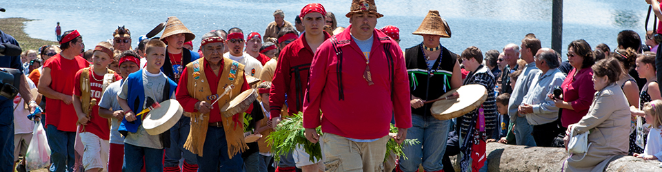 Qwuloolt Estuary Restoration Project of the Tulalip Tribes - Modern Day Salmon Ceremony