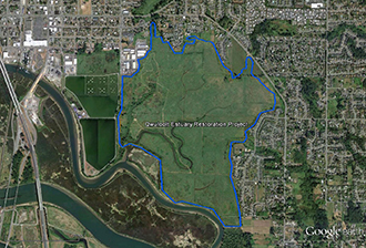 Qwuloolt Estuary Restoration Project of the Tulalip Tribes - Expandable Map of Site and Area